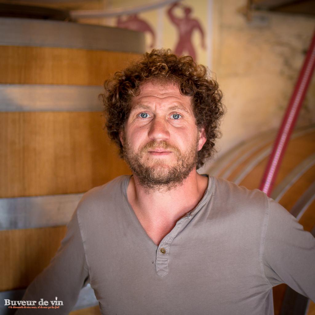 Portrait de benoit courault-vigneron en anjou